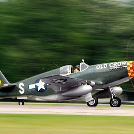 Old Crow On Takeoff by Mark Buehl