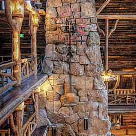 Old Faithful Inn Fireplace by Stephen Stookey