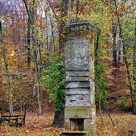 Old Fireplaces And Chimneys In Brown County Indiana by Rick Rosenshein