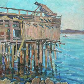 Old fishing shed by Juliya Zhukova