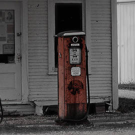 Old Gas Station Pumps by Mingus Trading Company