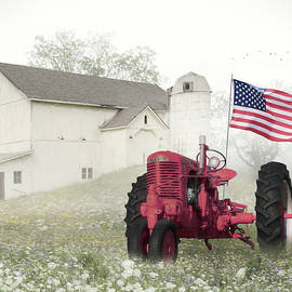 Old Glory at the Barn by Lori Deiter