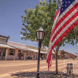 Old Glory waving in Tombstone