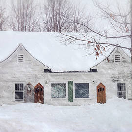 Old Home in Winter - New Hampshire by Joann Vitali