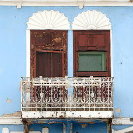 Old mediterranean window in an old house. Side of an old building, photo series 3. by Akos Horvath