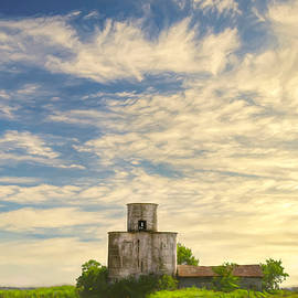 Old Metal Silo Photo Painting by Ann Powell