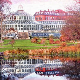 Old Palm House Copenhagen Botanical Garden Denmark  by Carol Japp