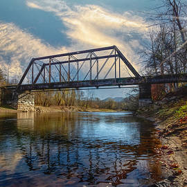 Old Railroad Trestle at Sunrise by Debra and Dave Vanderlaan