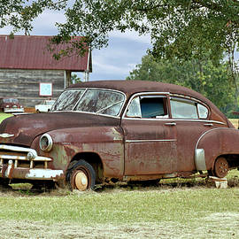 Old Rusty Chevy Cars 2 by John Trommer