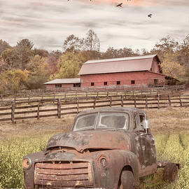 Old Rusty in the Farmhouse  Pastures by Debra and Dave Vanderlaan