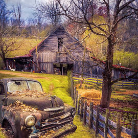 Old Rusty on the Farm in Autumn by Debra and Dave Vanderlaan