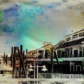 Old Sacramento Waterfront Dock - Rio City Cafe by Aurelia Schanzenbacher