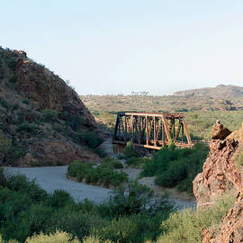 Old Santa Fe RR Bridge by Gordon Beck