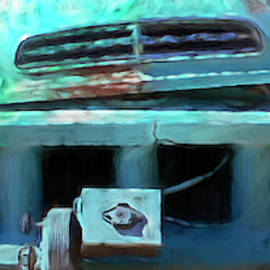 Old Studebaker Front End  by Cathy Anderson
