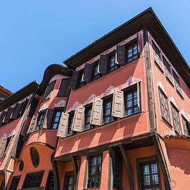 Old Town Plovdiv - A Hundred Windows Facade in Rich Orange  by Georgia Mizuleva