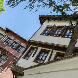 Old Town Plovdiv - Classic Oriel Windows Angles and Lines  by Georgia Mizuleva