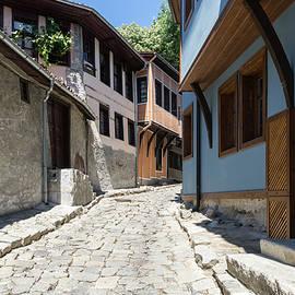 Old Town Plovdiv - Cobblestone Street Sunshine Delight by Georgia Mizuleva