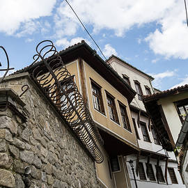 Old Town Plovdiv - Cool Curly Fence and Classic Oriel Windows by Georgia Mizuleva
