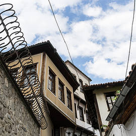 Old Town Plovdiv - Splendid Curly Fence and Classic Oriel Windows by Georgia Mizuleva