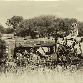 Old Tractor BW by Harriet Feagin Photography