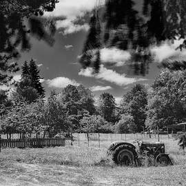 Old Tractor in field by Mike Penney