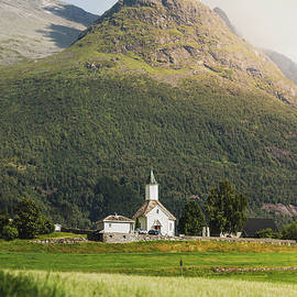 Old White Church in the Mountains by Nicklas Gustafsson