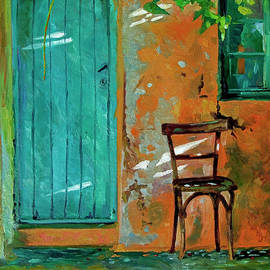 Old Wood Chair - Corfu by David Lloyd Glover