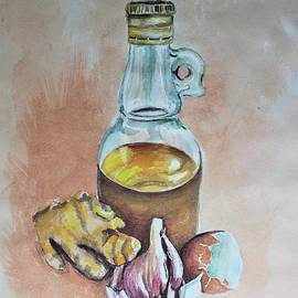 Olive oil, Garlic and Ginger by Jenny Scholten van Aschat