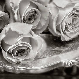 On A Silver Platter - Sepia by John Rogers