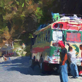 On the roads of Guatemala - Painting by Tatiana Travelways
