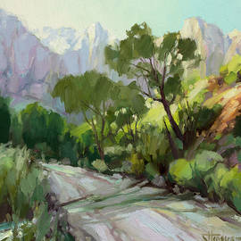 On the Temple Road by Steve Henderson