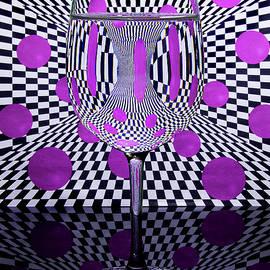 Optical Wine Glass Refraction by Eleanor Bortnick