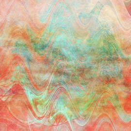 Orange and Aqua Heat Waves by Isabella Zietsman