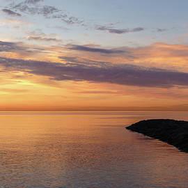 Orange and Purple - Glorious Lakeside Morning by Georgia Mizuleva