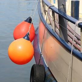 Orange Buoys in Falmouth by Michaela Perryman