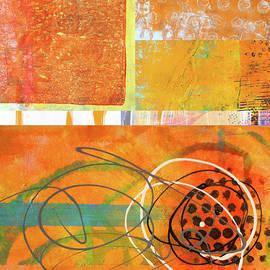 Orange Collage by Nancy Merkle