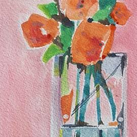 Orange Flowers by Sheila Romard