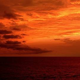 Orange Glow Sunset by Ocean View Photography