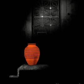 Orange Pot And Beam Of Light by Tatiana Bogracheva