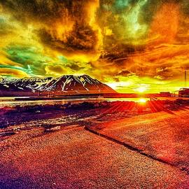 Orange sunset I  by Reykholt ArtFabrik