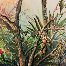 Orange Tree Admidst the Palms by Mindy Newman