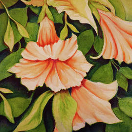 Orange Trumpet Lilies by Carla Parris