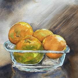 Oranges - a still life by Prasida Yerra