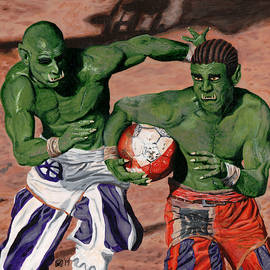 Orc Gladiator Football by Ted Helms
