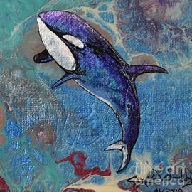 Orca in Blue by Crystal Dombrosky