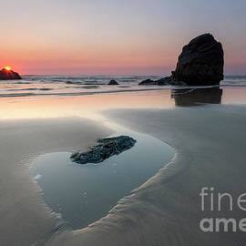 Oregon Tidepool Sunset by Mike Dawson