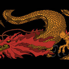 Oriental Medieval Dragon by Dragon Photography