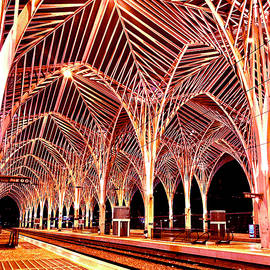 Oriente Train Station Lisbon by Rita Vidigal