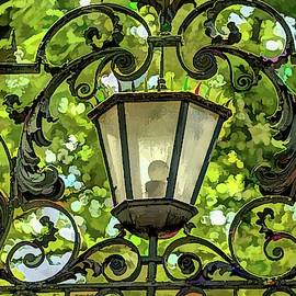 Ornate Entrance Fence to Ivy League college - Princeton by Geraldine Scull