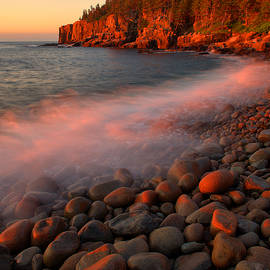 Otter Cliffs From Boulder Beach 2 by Stephen Vecchiotti